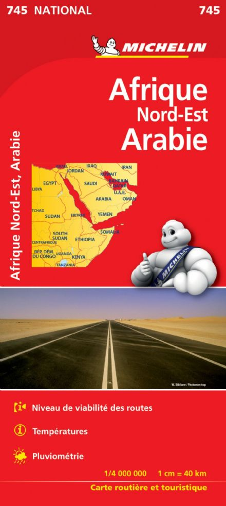 Africa North East Arabia - Michelin National Map 745